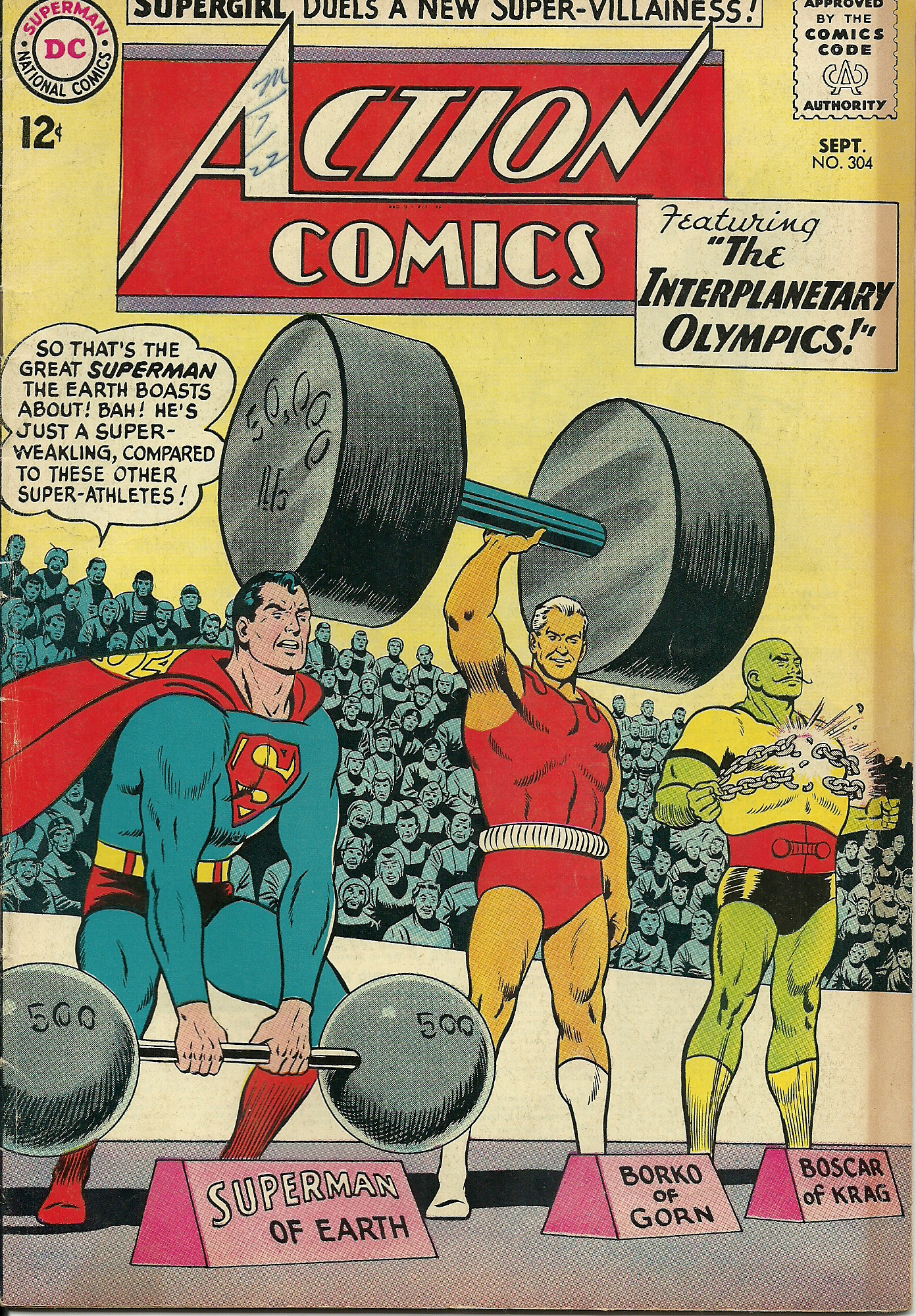 Action Comics–No. 304–September 1963. In good condition. All pages ...