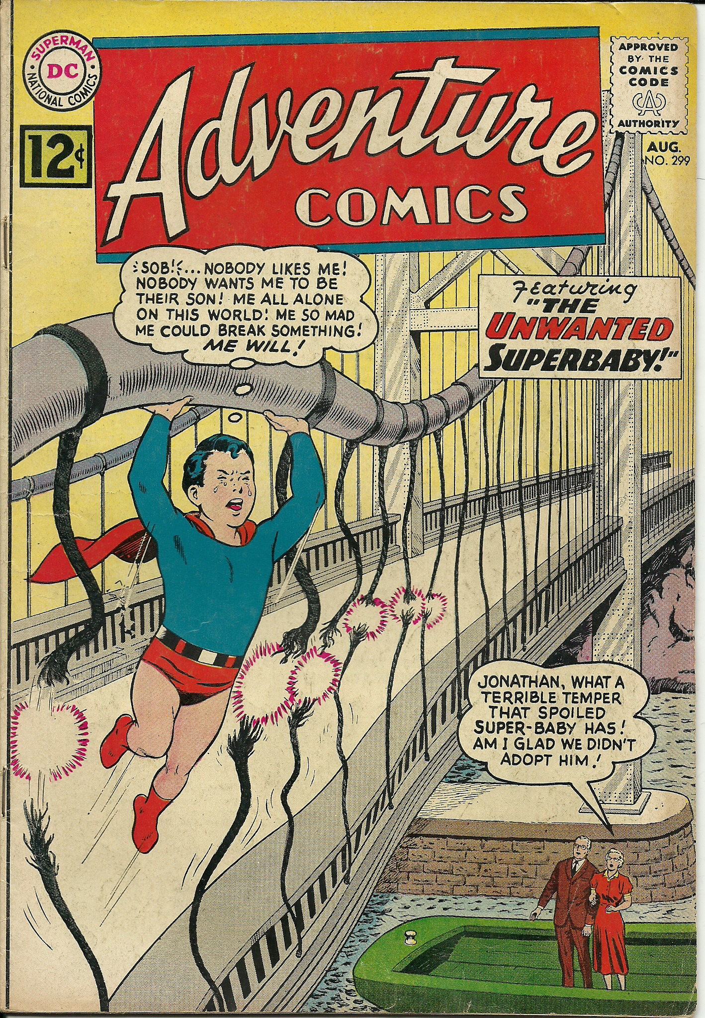 Adventure Comics–No. 299–August 1962. In good condition. All pages ...