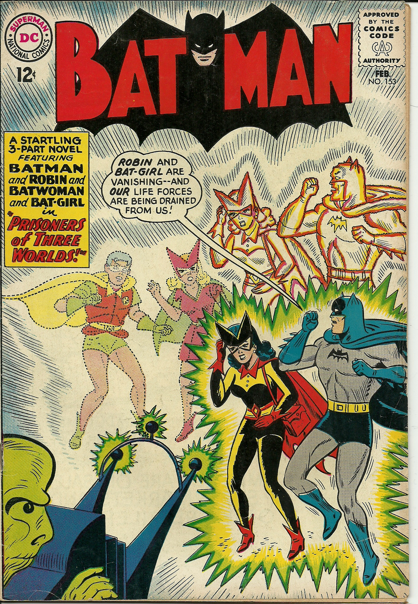 Batman–No. 153–February 1963. In good condition. All pages, front ...