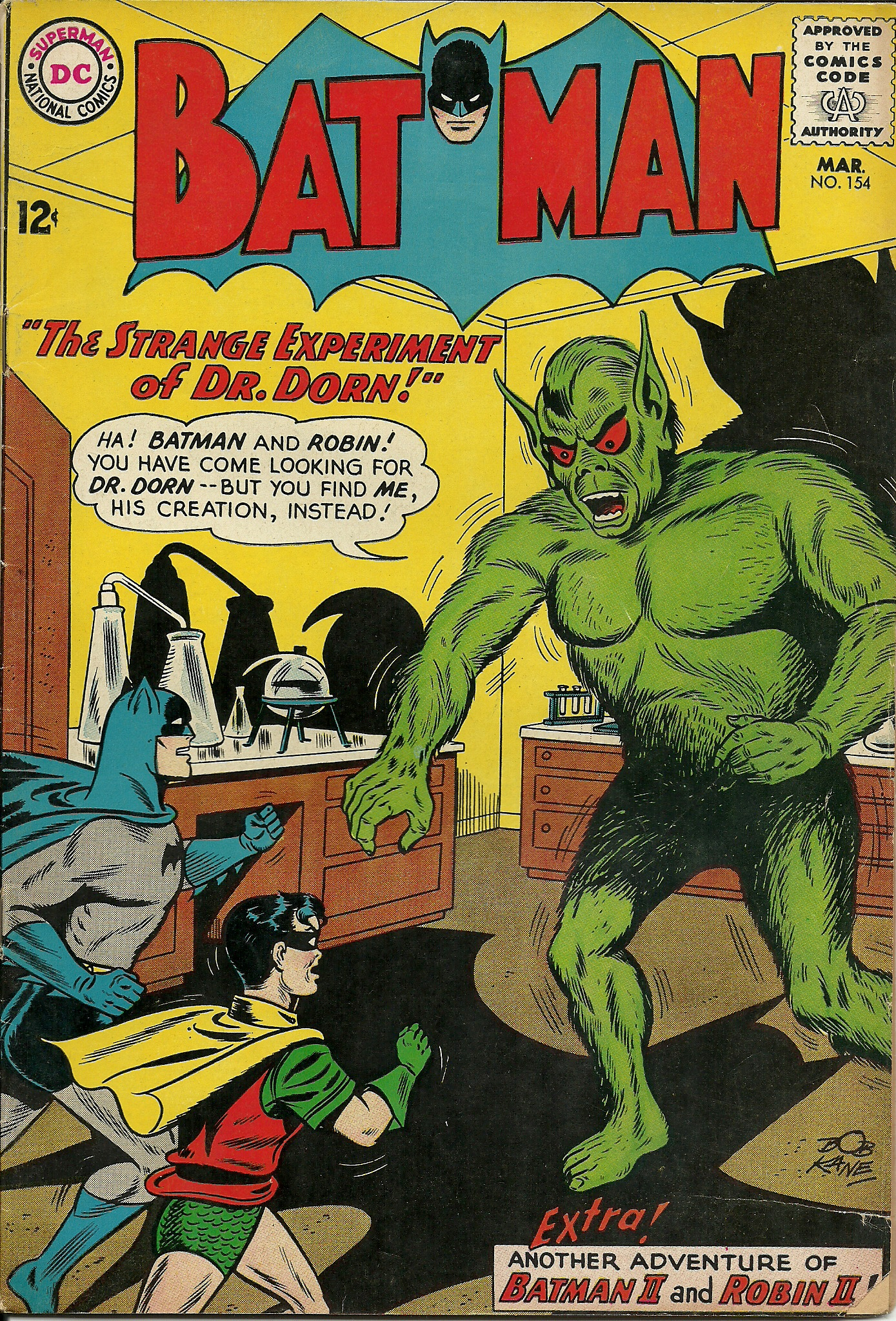 Batman–No. 154–March 1963. In good condition. All pages, front and ...