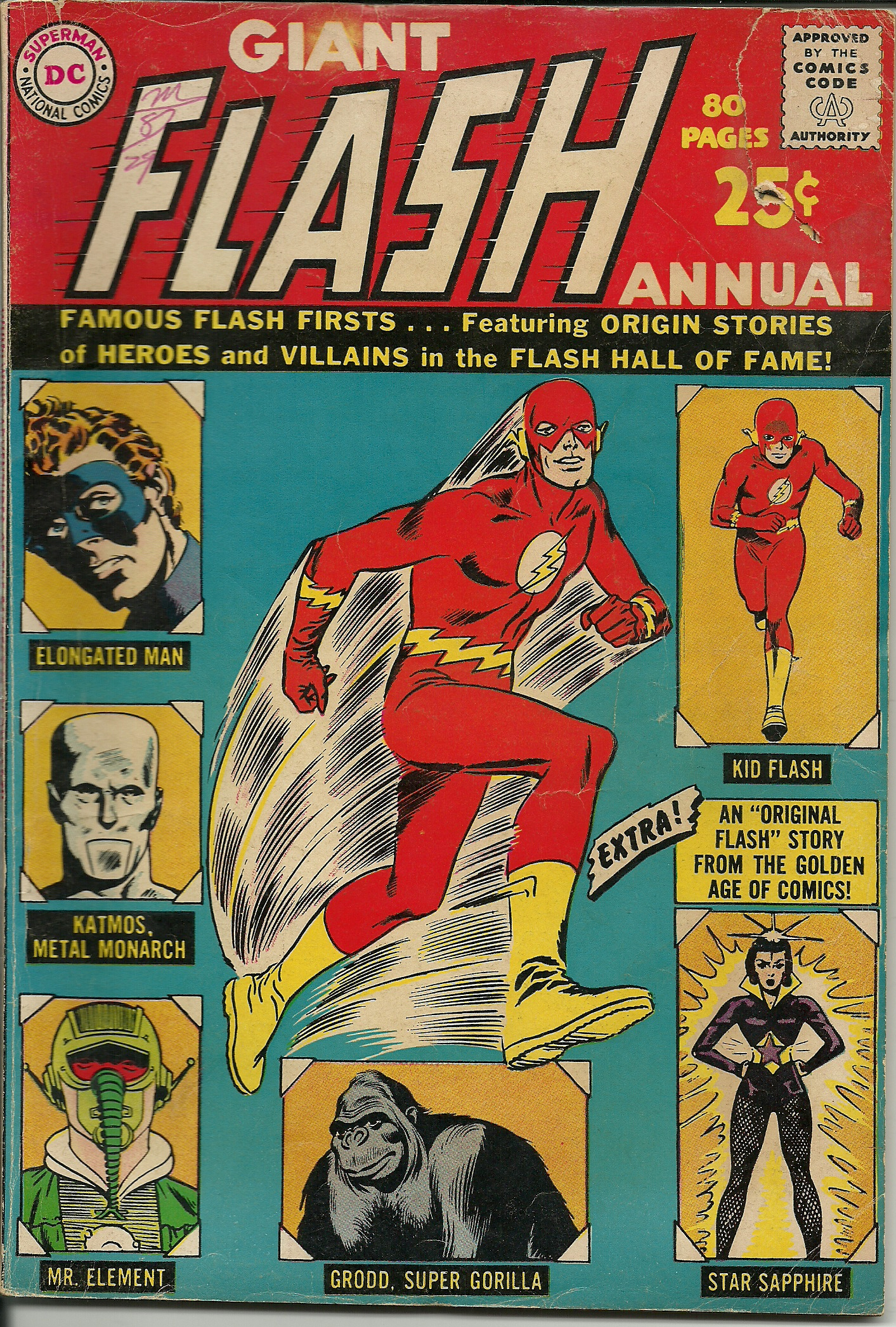 Classic Comic Book Cover Art ~ Flash annual no in good condition all pages