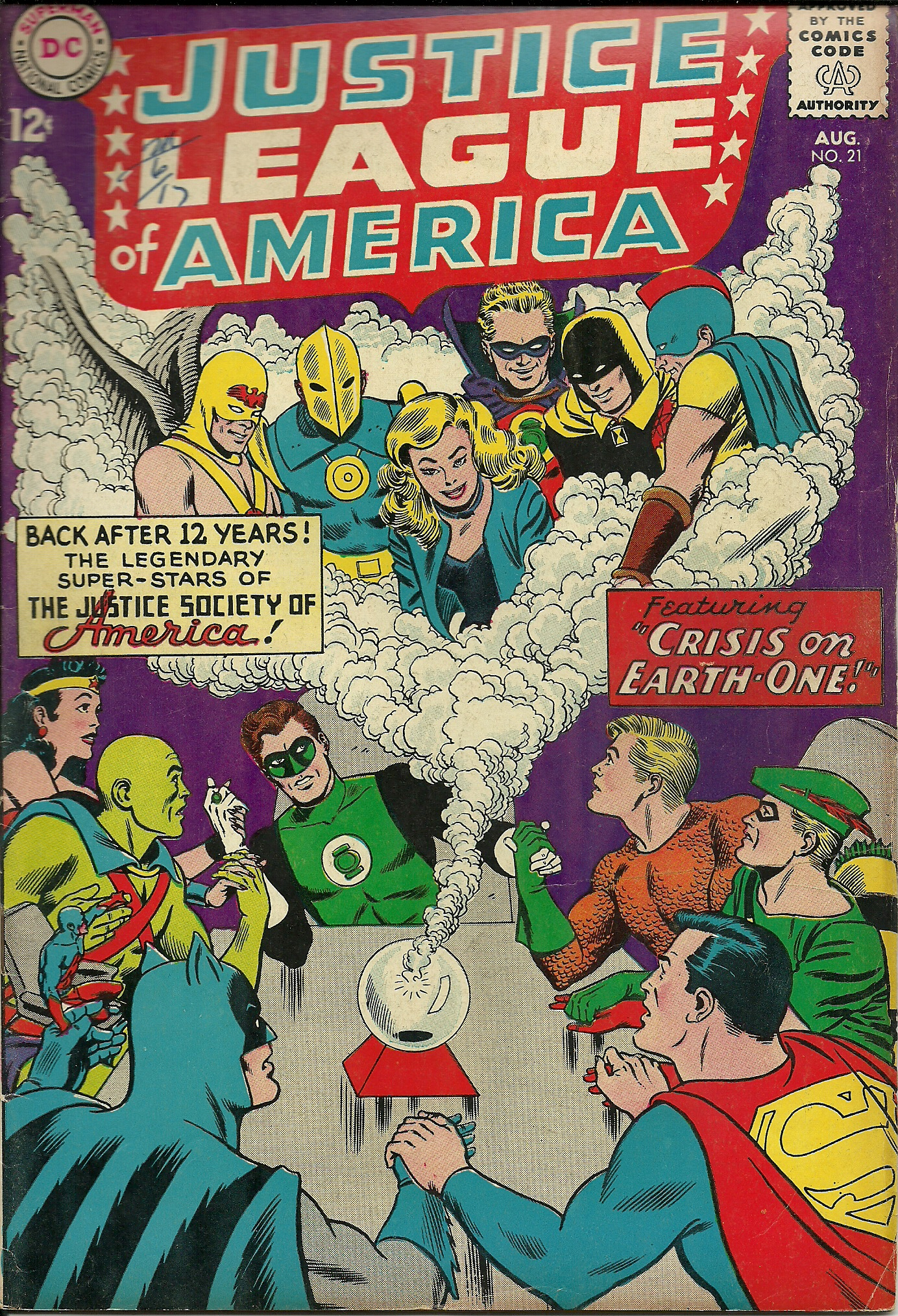 Justice League of America–No. 21–August 1963. In good condition ...