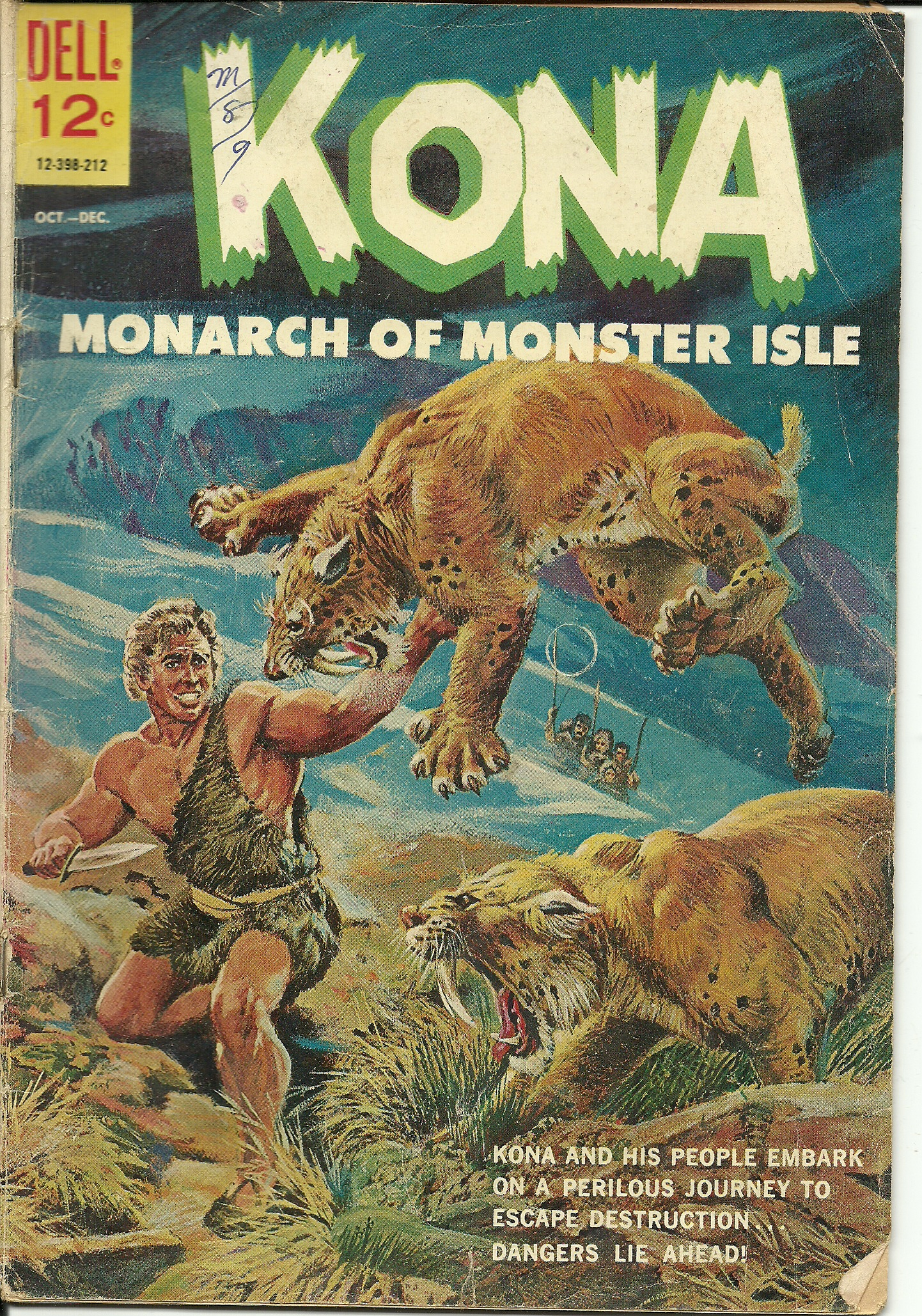 Kona, Monarch of Monster Isle–No. 4–October-December 1962. In good ...