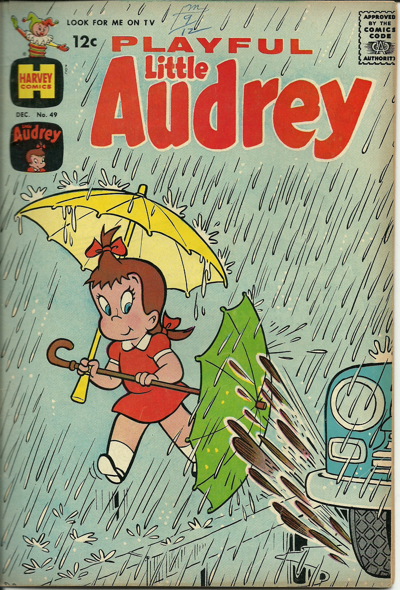Playful Little Audrey–Vol. 1, No. 49–December 1963. In good ...