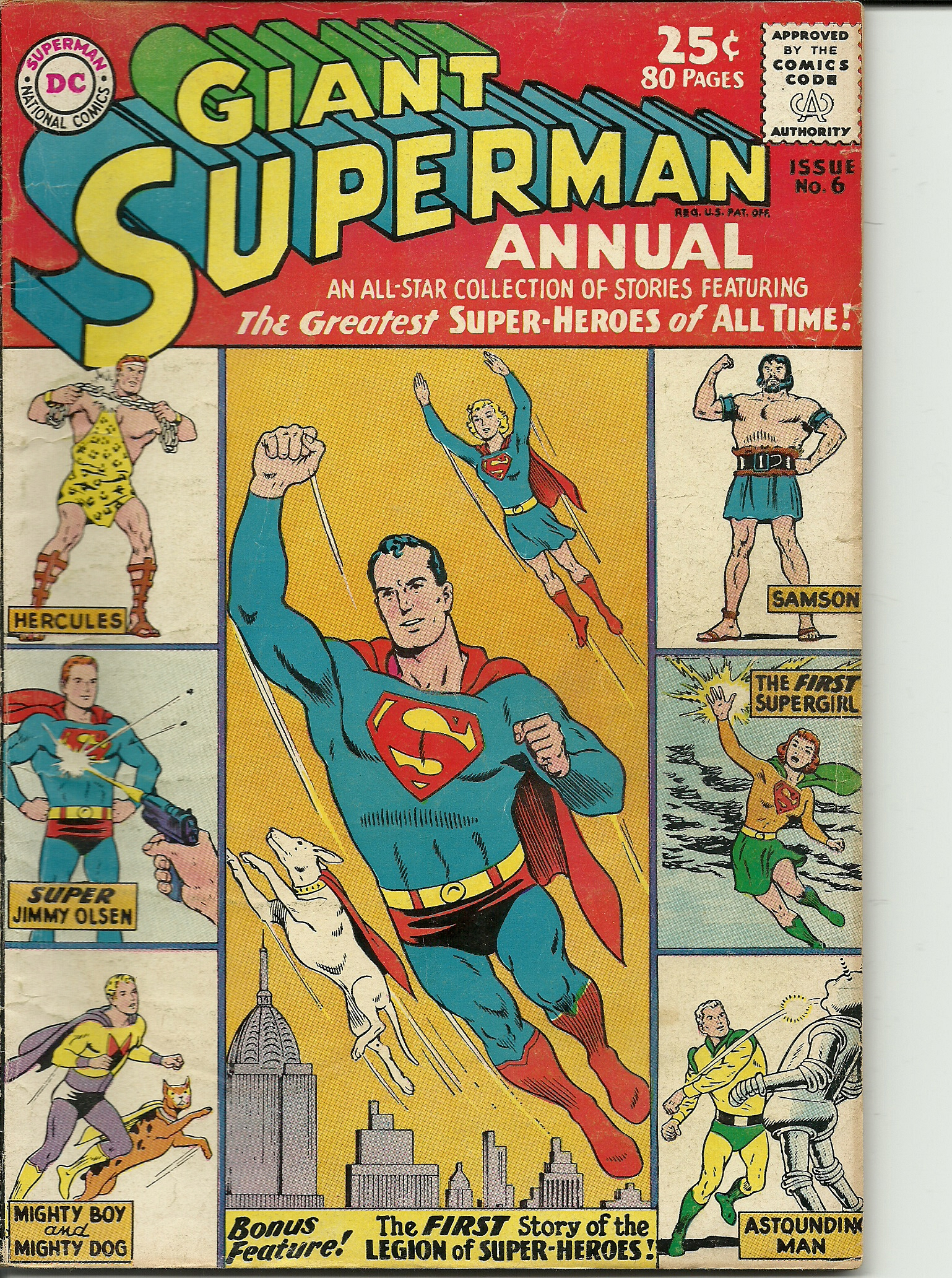 Superman Annual–No. 6–Winter 1962-63. In good condition. All pages ...