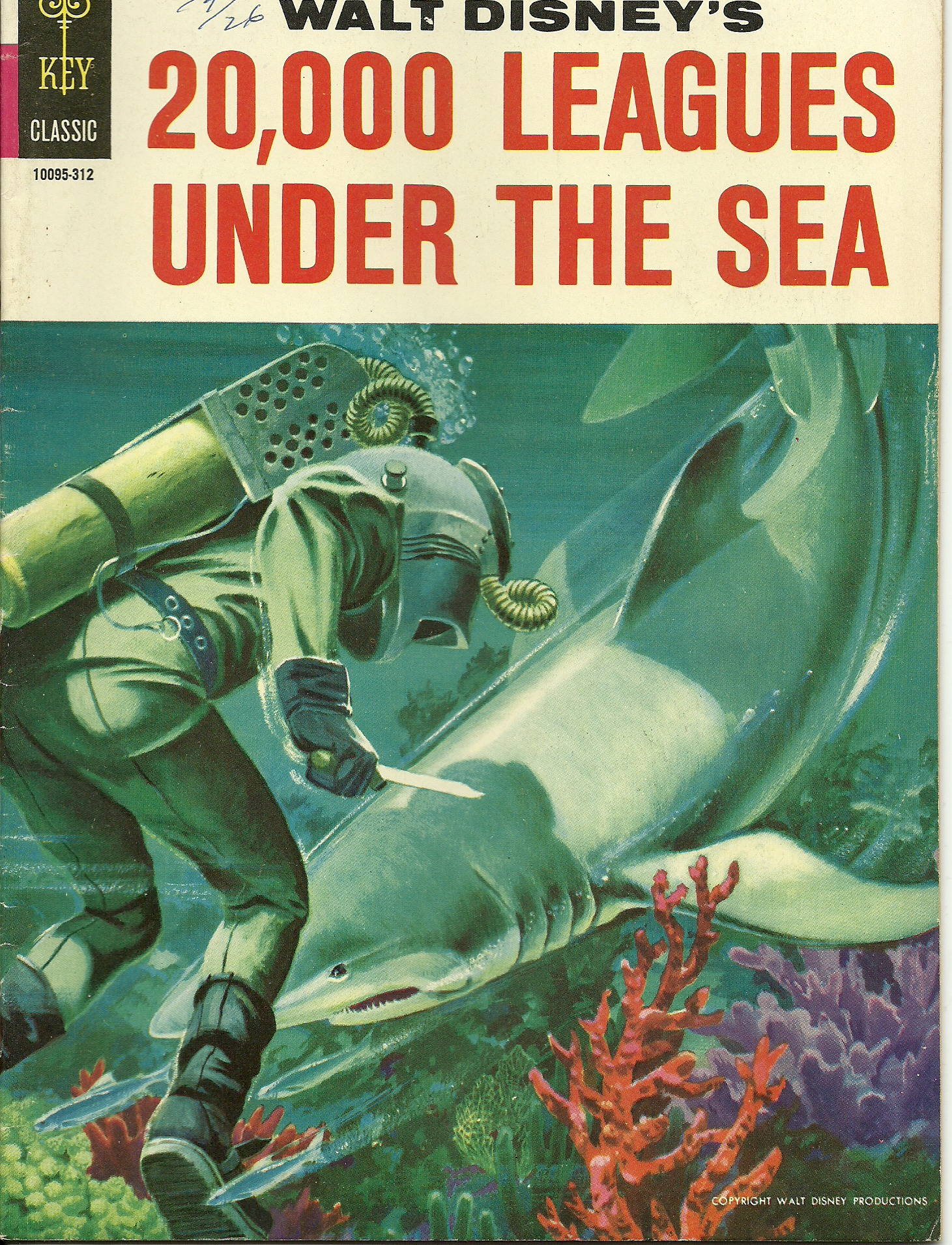 Walt Disney\'s 20,000 Leagues Under the Sea–1954. In good condition ...