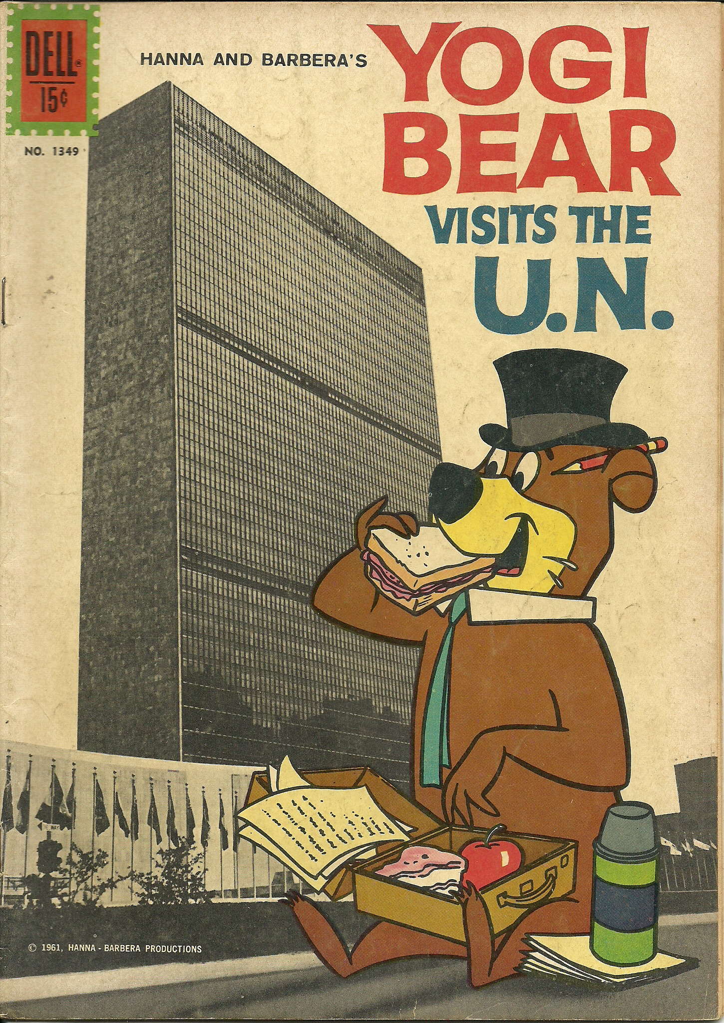 Yogi Bear Visits the U.N., No. 1349, 1961. In good condition. All ...