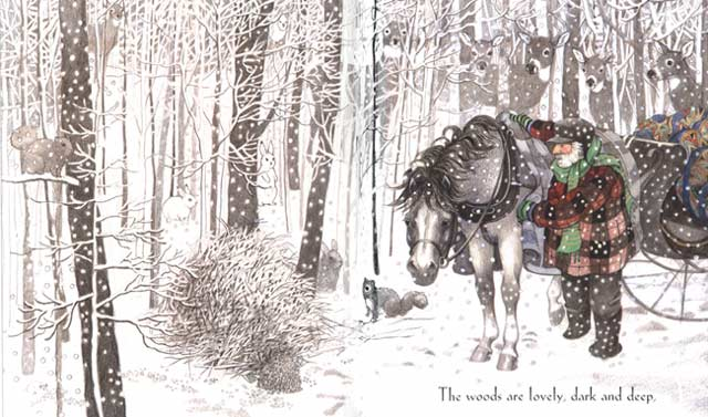 "stopping by the woods on a snowy evening"" by robert frost  stopping by image 5"