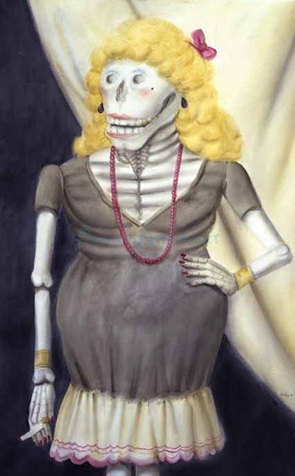 Skeleton Woman by Fernando Botero