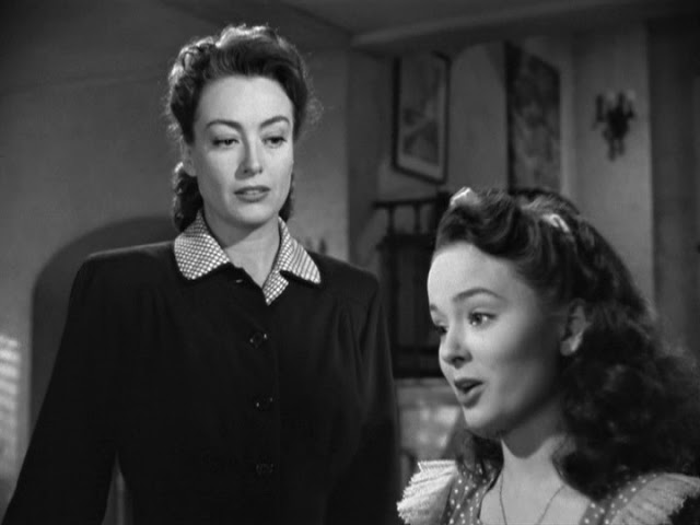 Joan Crawford and Ann Blythe in Mildred Pierce