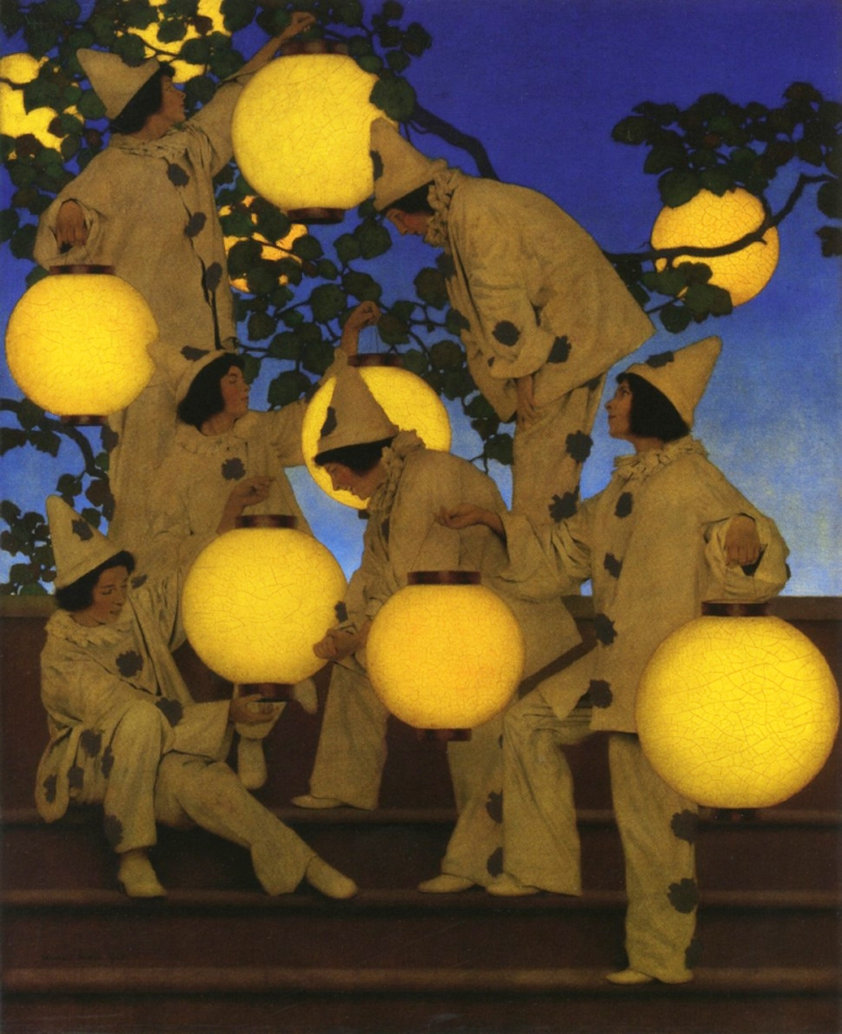 The Lantern Bearers (1908) by Maxfield Parrish
