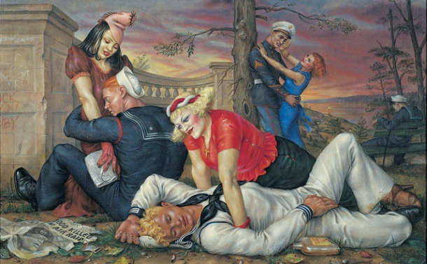Paul Cadmus ~ Sailors and Floozies