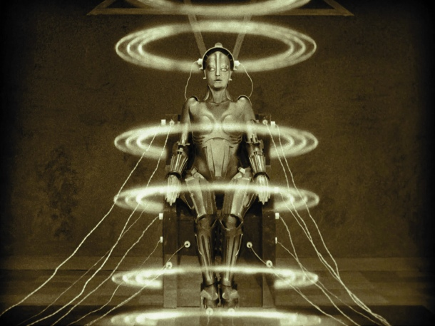 The Machine-Man, the most famous image from Metropolis.