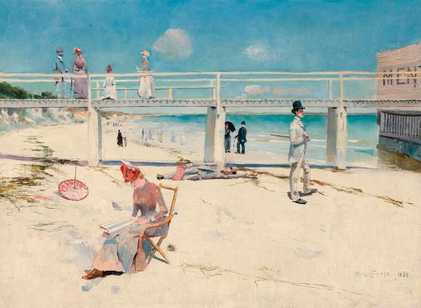 A Holiday in Mentone by Charles Conder