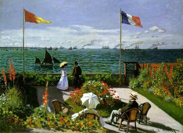 Claude Monet ~ The Terrace at Sainte Adresse (1867)