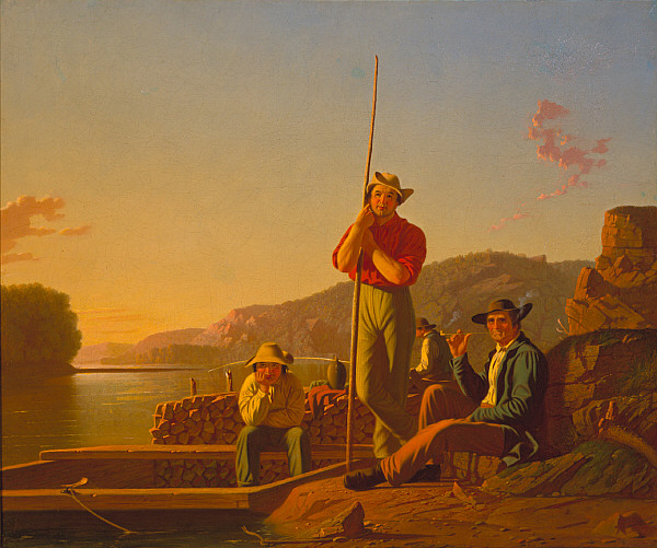 George Caleb Bingham ~ The Wood Boat