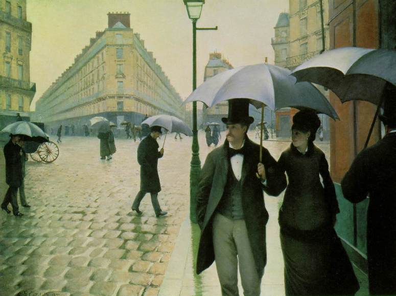 Paris on a Rainy Day by Gustave Caillebotte (1877)