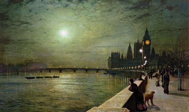 John Atkinson Grimshaw, Reflection on the Thames, 1880