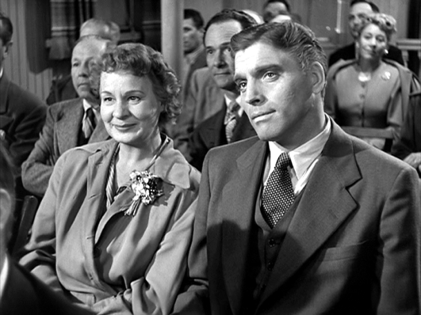Shirley Booth at an AA meetin' with her husband, Burt Lancaster