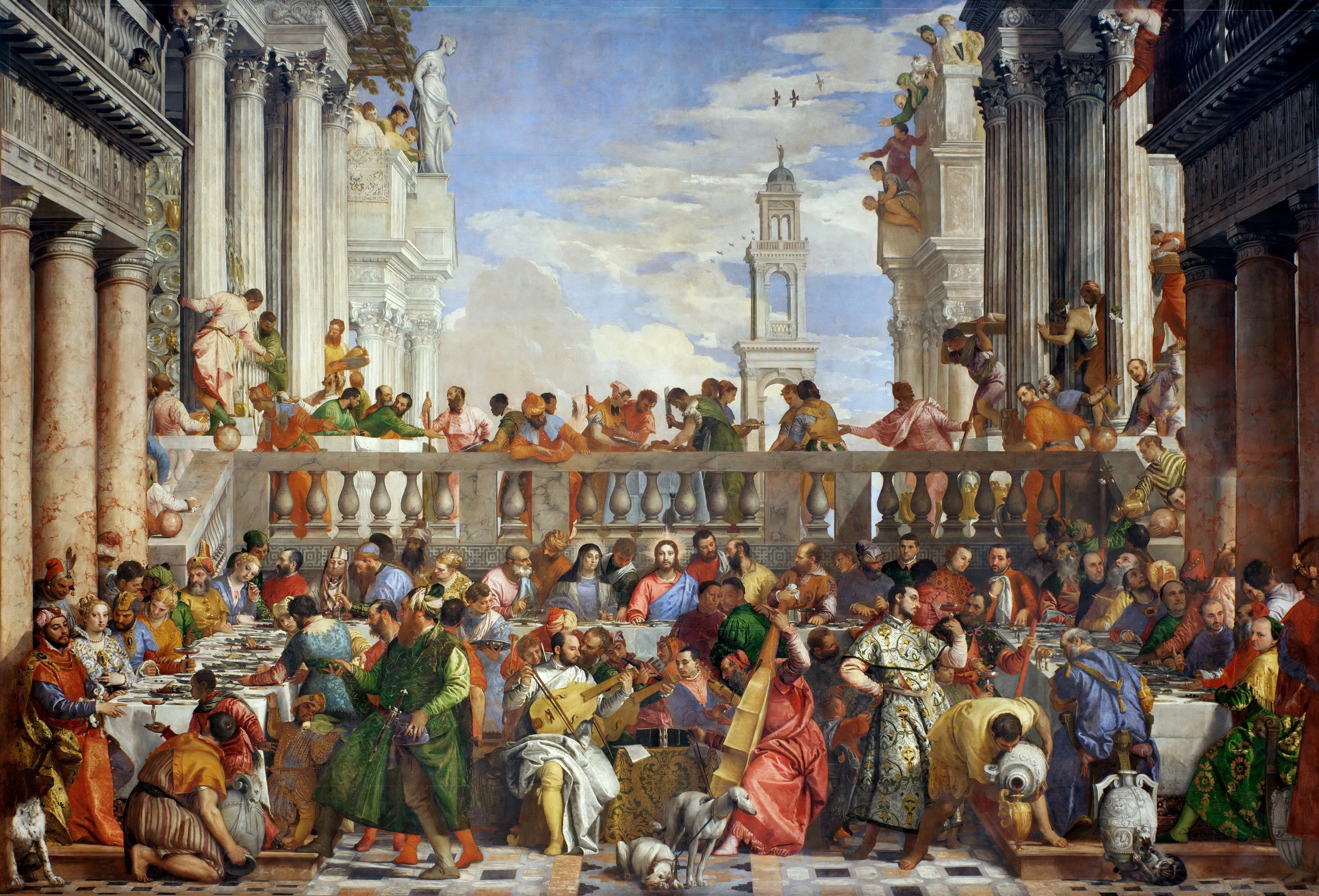 The Wedding Feast At Cana ~ A Painting by Paolo Veronese ...