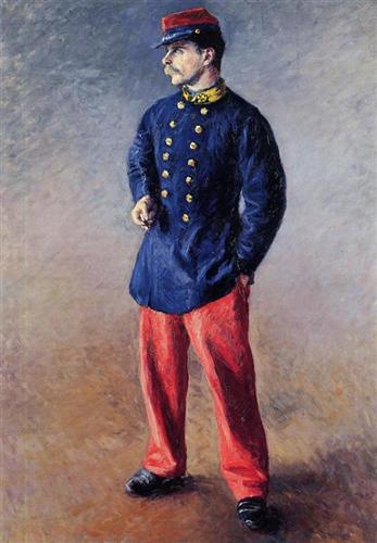 Gustave Caillebotte ~ A Soldier (1881)