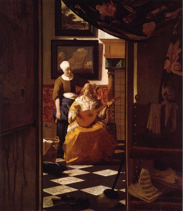 Vermeer ~ The Love Letter