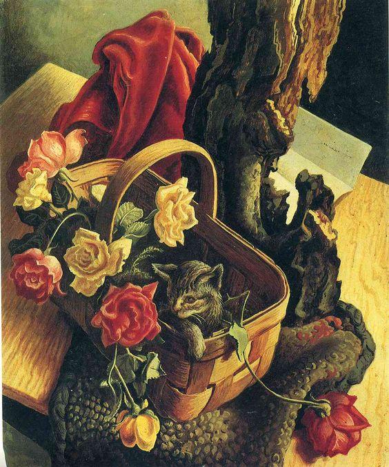 Thomas Hart Benton ~ Pussycat and Roses
