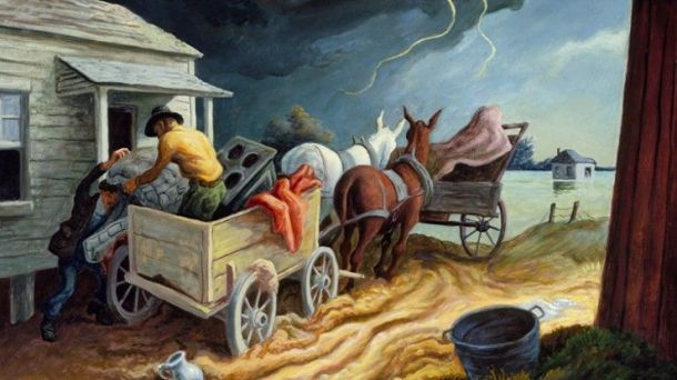 Thomas Hart Benton ~ Spring on the Missouri