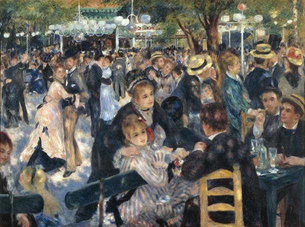 Bal du Moulin de la Galette by Pierre-Auguste Renoir (1876)