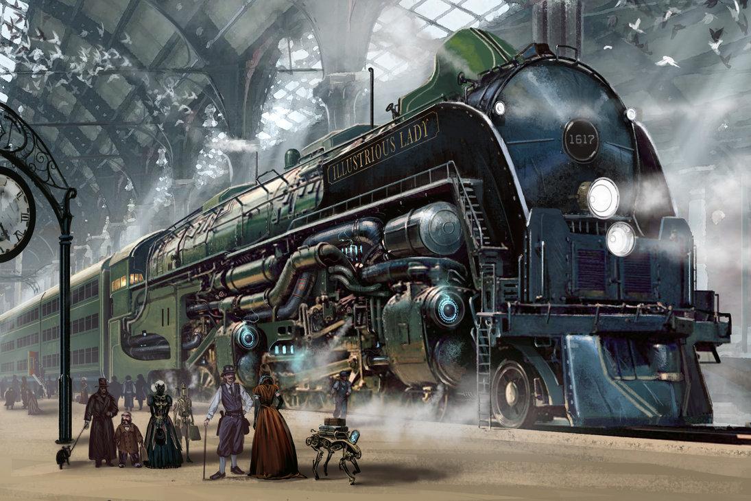 Steampunk Train by Ben Wootten – Literary Fictions