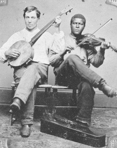 c. 1870 ~ Banjo and Violin