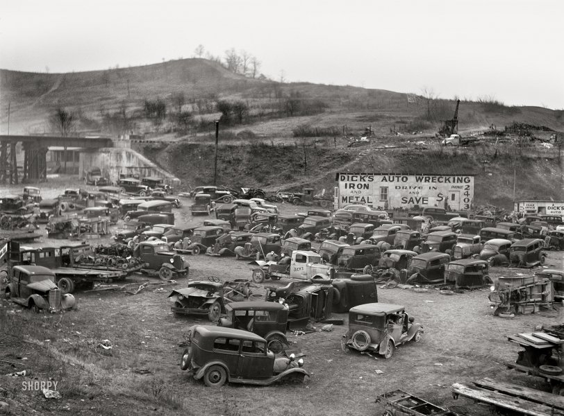 1942 ~ Junk Yard in West Virginia