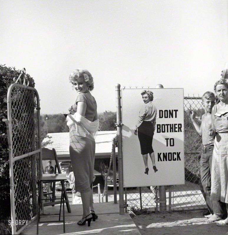 1952 ~ Marilyn Monroe Promoting Her New Film
